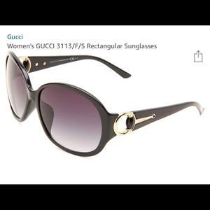 Gucci Over Sized Glasses with Horse Bit Detail